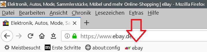 neu mit text - Lesezeichensymbol ändern in der Lesezeichensymbolleiste im Firefox