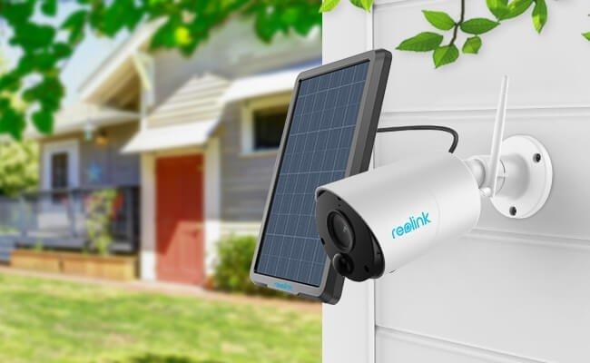 reolink argus eco bullet ueberwachungskamera mit akku solarpanel fuer outdoor - CES 2019: Reolink präsentiert Kabellose Sicherheitskamera-Neuheiten
