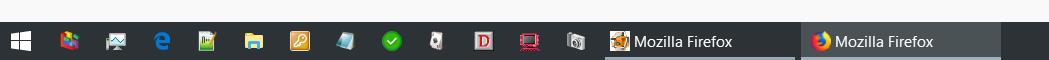 2 versch. symbole - Firefox Icon vom geöffneten Browser ändern