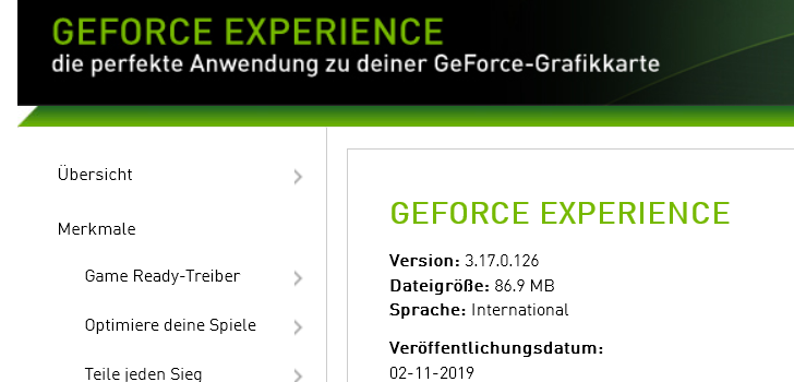 3170 728x350 - Nvidia GeForce Experience 3.17.0.126 - neue Version erschienen