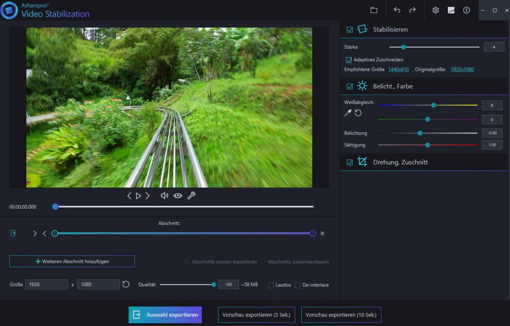 4 1 1024x655 - Ashampoo Video Stabilization - Verwackelte Videos stabilisieren - wir verlosen 5 Lizenzen