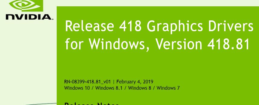 41881 859x350 - Nvidia-GeForce-Treiber Version 418.81 für Windows erschienen