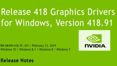 41891 390x220 - Nvidia-GeForce-Treiber Version 418.91 für Windows erschienen