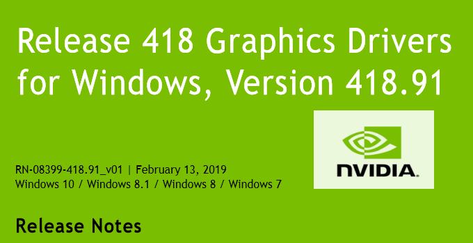 41891 680x350 - Nvidia-GeForce-Treiber Version 418.91 für Windows erschienen