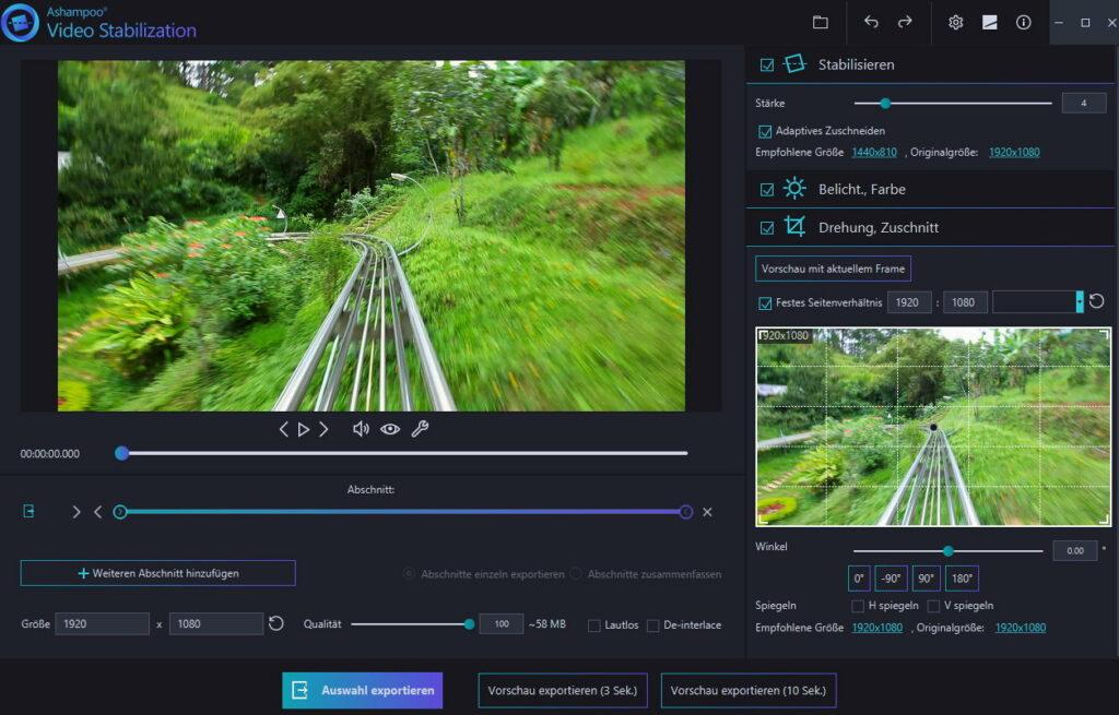 5 1 1024x655 - Ashampoo Video Stabilization - Verwackelte Videos stabilisieren - wir verlosen 5 Lizenzen
