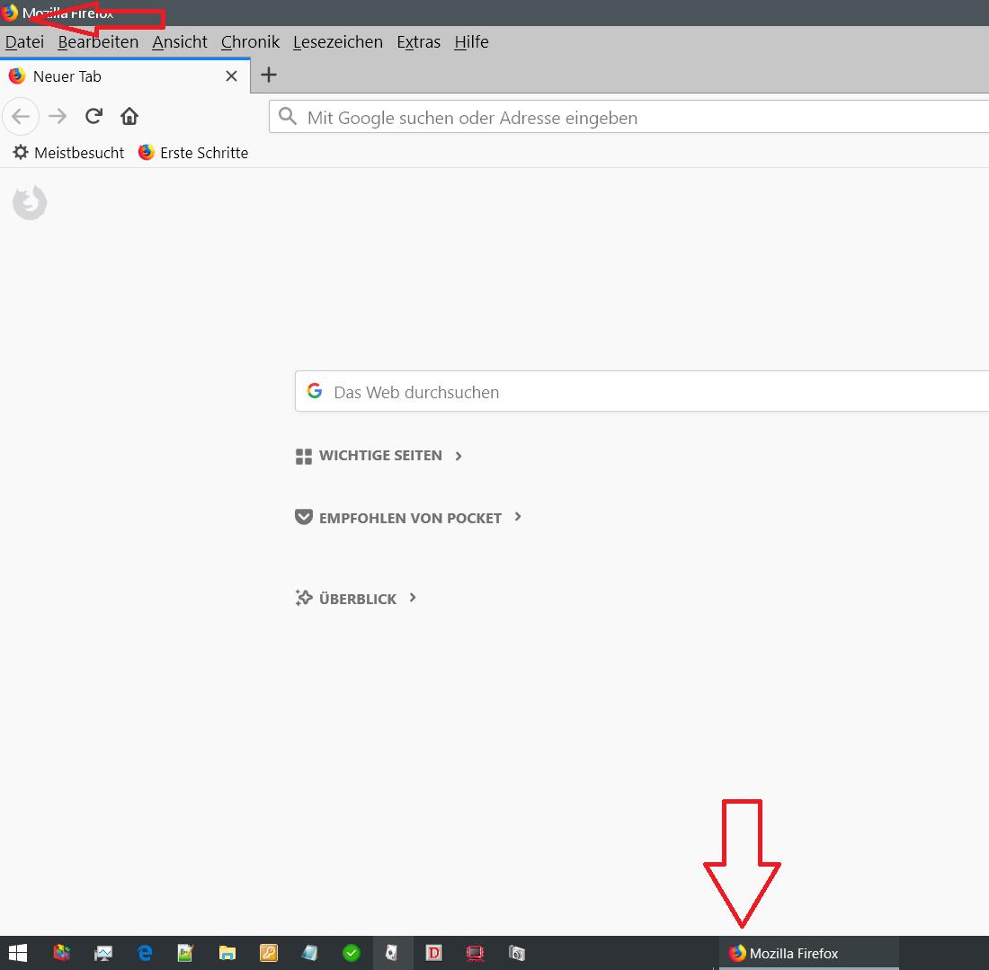 icon oben und unten alt - Firefox Icon vom geöffneten Browser ändern