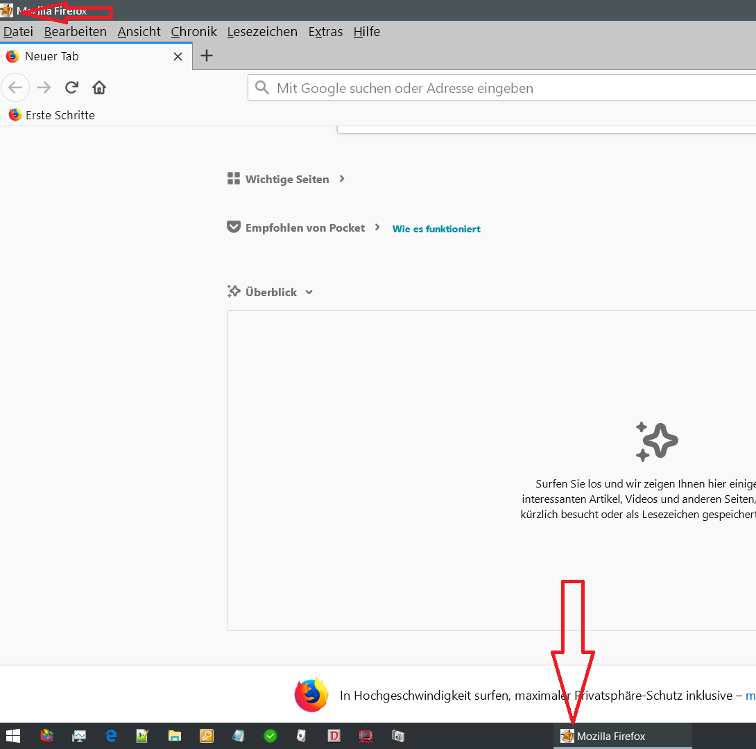 icon oben und unten neu - Firefox Icon vom geöffneten Browser ändern