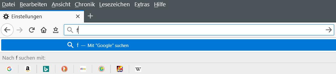 mit popup - Suchvorschläge Adressleiste deaktivieren ab Firefox Version 65