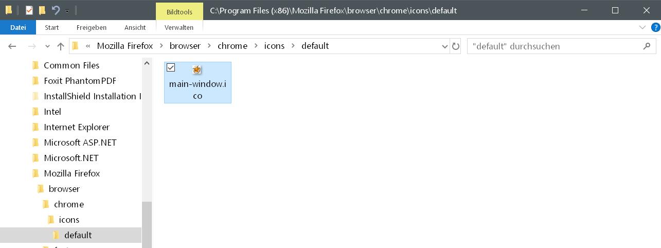 neues icon - Firefox Icon vom geöffneten Browser ändern