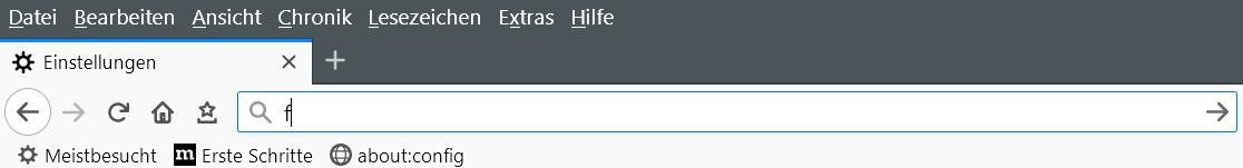 ohne popup - Suchvorschläge Adressleiste deaktivieren ab Firefox Version 65