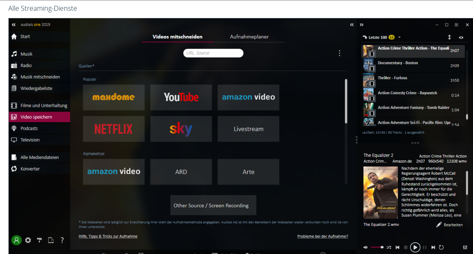 streaming dienste - Audials One 2019 ist erschienen - Wir verlosen 4 Lizenzen