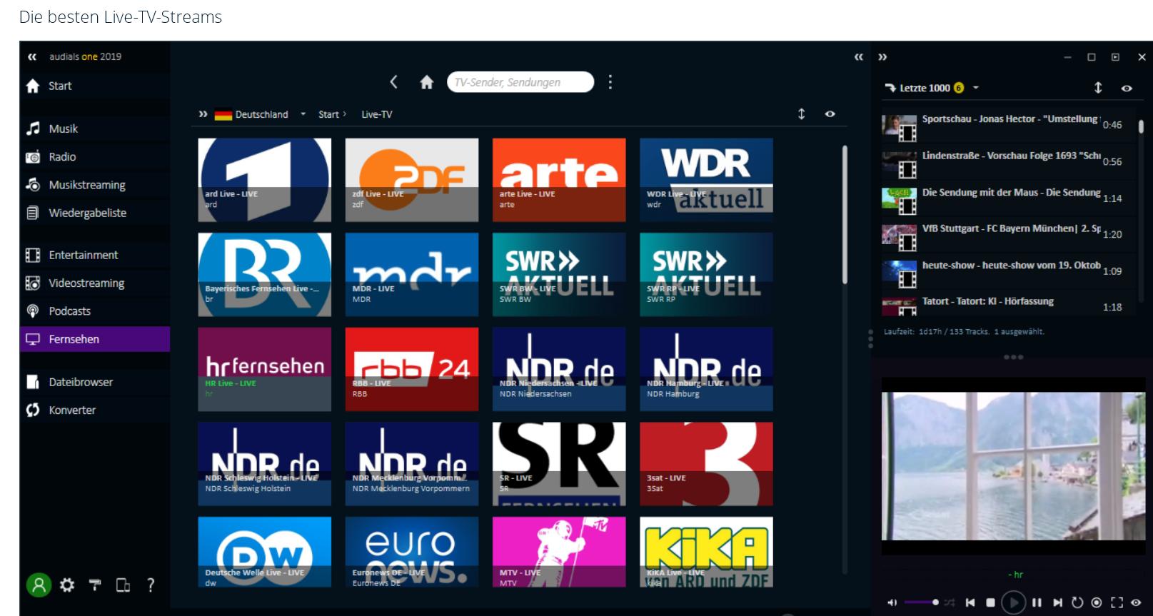 tv streams - Audials One 2019 ist erschienen - Wir verlosen 4 Lizenzen