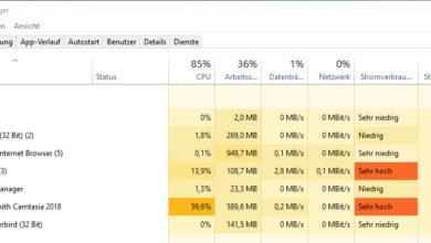Bild von Windows 10 Task Manager deaktivieren