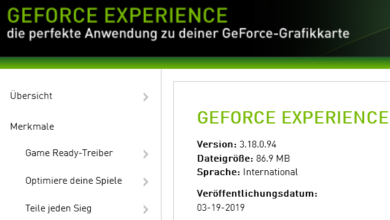 318094 390x220 - Nvidia GeForce Experience 3.18.0.94 – neue Version erschienen