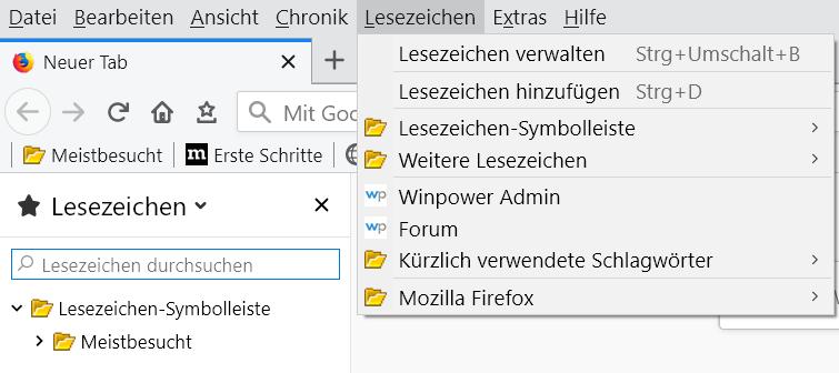 gelbe ordner - Firefox 66 - Gelbes Icon für die Lesezeichenordner