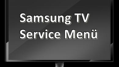 Bild von Samsung Service Menü