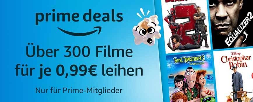 video amazon - Über 300 Filme für je 0,99€ leihen bei Amazon