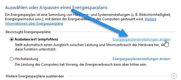 energiesparplaneinstellungen aendern - Windows 10 Bildschirm immer noch dunkler bei voller Helligkeit