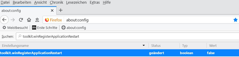 false - Firefox startet automatisch