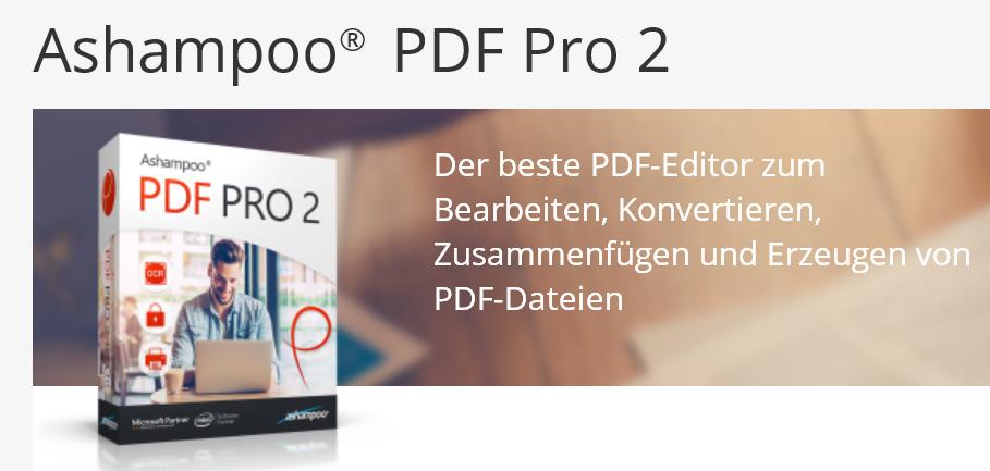 pdf - Ashampoo® PDF Pro 2 – Wir verlosen 5 Lizenzen