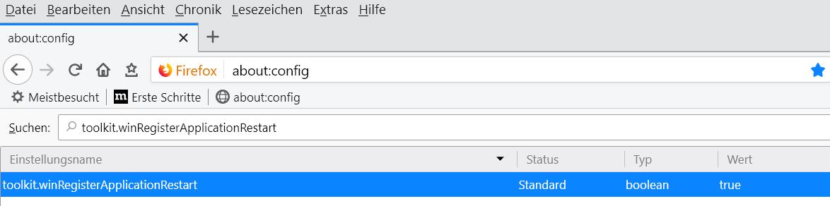true - Firefox startet automatisch