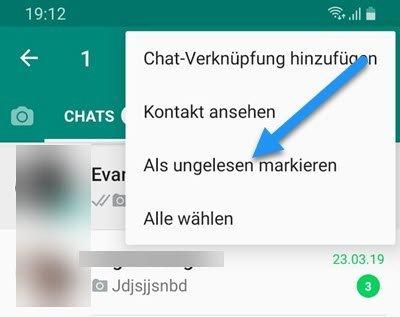 WhatsApp: Nachrichten als ungelesen markieren