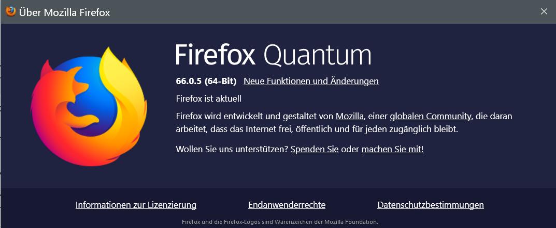 66.0.5 - Firefox Version 66.0.5 ist erschienen und steht zum Download bereit