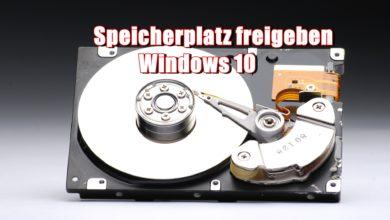 Speicherplatz freigeben Windows 10 0