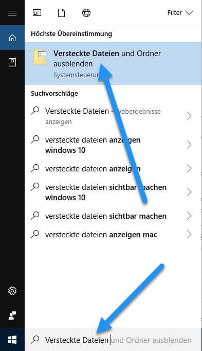 versteckte dateien - Ordner verstecken unter Windows 10 - Dateien unsichtbar machen