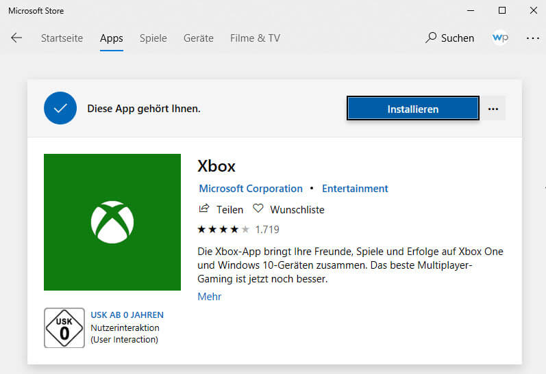 xbox installieren - Xbox App deinstallieren bei Windows 10