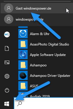 gastkonto aktivieren windows 10 pro