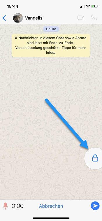 WhatsApp Sprachnachrichten ohne Mikrofon Button zu halten