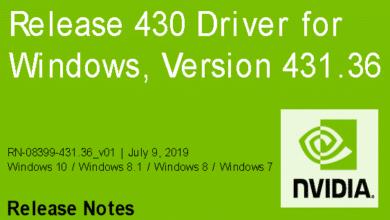 Bild von Nvidia-GeForce-Treiber Version 431.36 für Windows erschienen