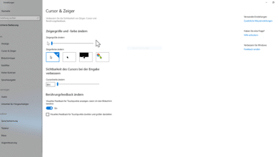 Bild von Cursor färben Windows 10