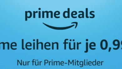 Bild von Amazon Prime Deals Filme für je 0,99€ leihen
