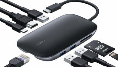 Bild von AUKEY USB-C Hub 8 zum Schnäppchen Preis