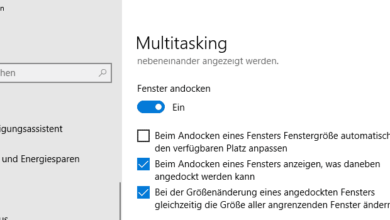Bild von Automatisches Andocken von Fenstern deaktivieren bei Windows 10