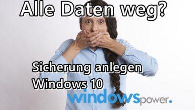 Photo of Sicherung anlegen Windows 10