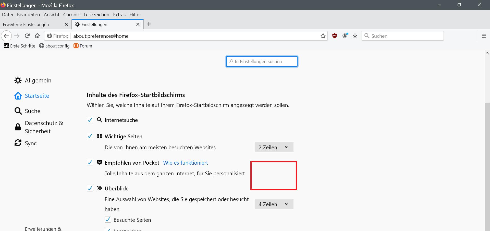 Firefox Empfohlen Von Pocket