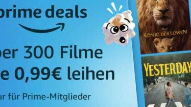 Bild von Prime Deals: Über 300 Filme für je 0,99€ leihen