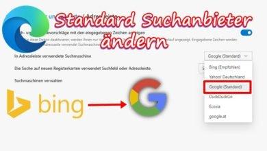Bild von Google als Standardsuchmaschine festlegen