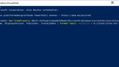 Bild von Liste alle installierten Programme erstellen und als .TXT Datei speichern