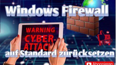 Bild von Windows Firewall zurücksetzen auf Standard