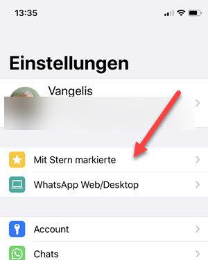 iphone mit stern markierte