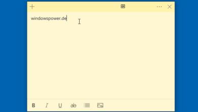 Bild von Kurznotizen App Sticky Notes bei Windows 10