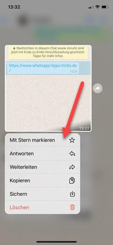 nachrichten mit stern markieren iphone