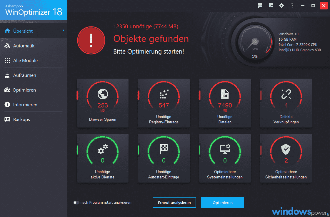 winoptimizer 18 system optimierungs programm