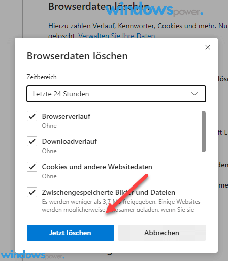 broiwser cookies und andere websitedaten loeschen entfernen