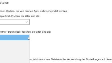 Bild von Download-Ordner automatisch leeren lassen bei Windows 10