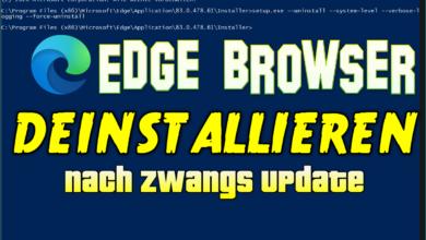 Bild von Edge Browser deinstallieren nach Zwangs Update